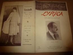 1928 LYRICA :Paganini;Pantomine;WOLFF ;Cin�-Impro;F�lia Litvine;Greta de Haartmann; Photo dos couverture par Henri Manuel