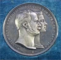 1854/1886 Medaille WILHELM & AUGUSTA - König Preussen Sachsen - Royal/Of Nobility