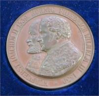 1839 Medaille Kurfürst JOACHIM II & König FRIEDRICH WILHELM III - Royal/Of Nobility