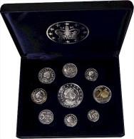 GB/UK - 9 Probe/Pattern-Euro In Massiv Silver 925 - 1 Cent Bis 5 Euro - Commerce Extérieur, Essais, Contremarques Et Surfrappes