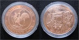 "1985 AUSTRALIEN - Souvenir Coin ""Perth"" Kupfer PP - Souvenir-Medaille (elongated Coins)"