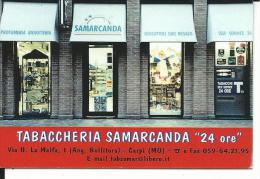 CAL127 - CALENDARIETTO 2005 - TABACCHERIA SAMARCANDA - CARPI (MO)