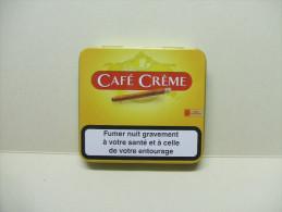BOITE Métal Vide CAFE CREME (20 Cigares) - Zigarrenetuis