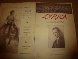 192 LYRICA :Le chant italien;Le baryton Arbeau;Au BA-TA-CLAN;Chiens d'artistes;Techn- VOIX; Couverture par Henri Manuel