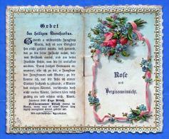 (4Scan) Heiligenbild Andachtsbild Goldprägebild, Andenken An Maria Brunn, Mehrseitig Wie Gebetbuch Um 1900 - Religion &  Esoterik