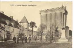 Dep - 17 - PONS Donjon Mairie Et Ecole De Filles - Pons