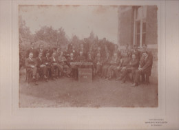 SINT-TRUIDEN-1922-LAUREATEN EN LERAARS-EINDEXAMEN-ADRIEN RIETJENS-GROTE FOTO(17 -23 CM )-OP PASSEPARTOUT(27-32CM) - Sint-Truiden