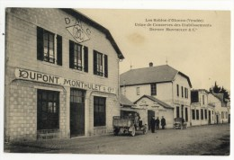 LES SABLES D´OLONNE  -Usine De Conserves Des Etablissements Dupont Monthulet Et Cie. Très Rare - Sables D'Olonne