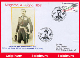 ANNULLO ANNIVERSARIO 155° BATTAGLIA MAGENTA - 1946-.. République