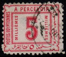 ~~~ Egypte 1888 - Postage Due  - Mi. 11 (o) - Cat.  20.00 Euro - Small Thin  ~~~ - Egypte