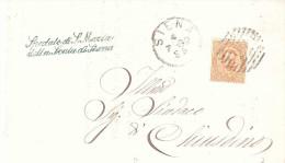 1882 CENT.20 NUM.27 TIMBRO SPEDALE DI S.MARIA DELLA SCALA SIENA - 1878-00 Umberto I