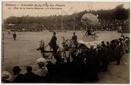 """Cpa """" RENNES - Souvenir De La Fête Des Fleurs - Char De La Guerre Moderne - 7ème D´Artillerie """" 1910 - RARE ! TBE - Rennes"""