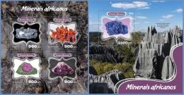 gb14401ab Guinea Bissau 2014 Minerals 2 s/s