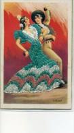 Carte Brodée - Danseurs De Flamenco - - Brodées