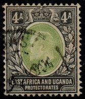 ~~~ British East Africa  Uganda Protectorate 1904  - Edward VII Wm CA+Crown  Multiple - Mi.  22 (o) Used  - CV 25 Eur~~~ - Kenya, Uganda & Tanganyika