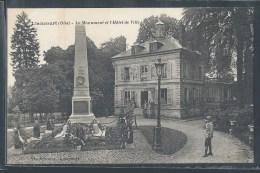 - CPA 60 - Liancourt, Le Monument Et L'hôtel De Ville - Liancourt