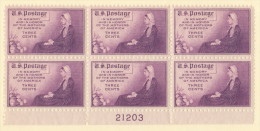 USA SC #738  MNH PB6 1934 Mother´s Day #21203 - Plate Blocks & Sheetlets
