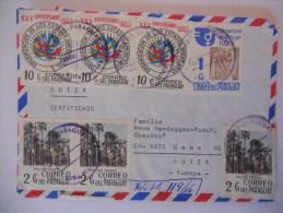 Paraguay Lettre De Villa Florida 1975 Pour Gamas , Affranchissement Recto Verso - Paraguay