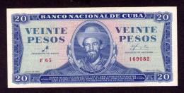 Cuba  20 pesos 1961  CHE GUEVARA signature