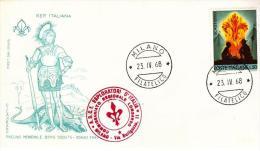 FDC Filagrano : SCOUT 1968; No Viaggiata ; AF_Milano ; Timbro ASCI - F.D.C.