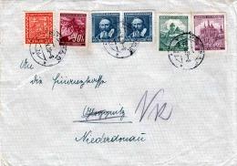 Brief CESKOSLOVENSKO (Böhmen & Mähren) 1939 -  6 Fach Frankierung, Gel.n. Gloggnitz Niederdonau - Böhmen Und Mähren
