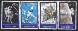 Barbados 1999 - 30th Anniversary Of 1st Man On The Moon SG1138-1141 MNH Cat £4 SG2015 - Barbados (1966-...)