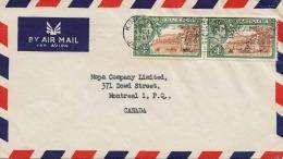 FP-Brief JAMAIKA 1951 - 2 Fach Frankiert, Gelv.Jamaika > Canada - Jamaica (1962-...)