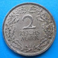 Allemagne Germany Weimar 2 Reichsmark 1931 G Km 45 RARE ! - [ 3] 1918-1933 : Weimar Republic