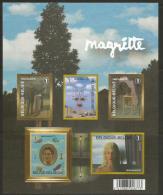 Blok 151. Rene Magritte. Openinig V/h Museum In Brussel. Ongetand Met Nummer Op Achterzijde.Cote 50 € - Imperforates