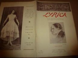 1929 LYRICA : Importance d'une m�thode unique dans le chant par professeur russe ZASSIEDATELIEFF; Manon;Jean de la Lune