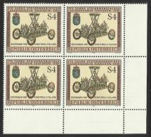 """Österreich 1986   """"175 Jahre Steierm. Landesmuseum Joanneum""""  4er-Block  ÖS 4,-  ANK Nr. 1899 **/feinst Postfrisch - 1945-.... 2nd Republic"""