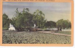 The La Brea Pits, Hancock Park, LOS ANGELES, California, 30-40s