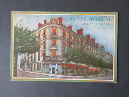 AK 1938 Hotel Moderne Chalon Sur Saone. Bildpostkarte - Chalon Sur Saone