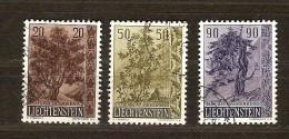 Liechtenstein 1958 Yvertnr.  333-35(°) Used Cote 12 Euro Flore Arbres Bomen - Oblitérés