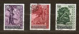 Liechtenstein 1959 Yvertnr.  339-41 (°) Used Cote 13 Euro Flore Arbres Bomen - Oblitérés