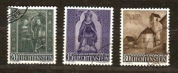 Liechtenstein 1958 Yvertnr.  336-38 (°) Used Cote 10 Euro - Oblitérés