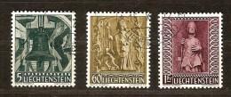Liechtenstein 1959 Yvertnr.  350-52 (°) Used Cote 11,50 Euro - Oblitérés
