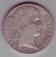 5 Francs. Napoléon Empereur. Empire Français. 1811 A - - J. 5 Francs