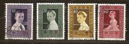 Liechtenstein 1955 Yvertnr.  300-03 (°) Oblitéré Used Cote 15,00 Euro - Oblitérés