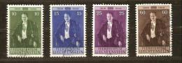 Liechtenstein 1956 Yvertnr.  309-12 (°) Used Cote 13,00 Euro - Oblitérés