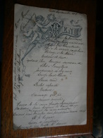 MENU DATE DU 11 SEPTEMBRE 1921 -  AVEC DES NOTES D'HUMOUR DANS LE MENU - Menus