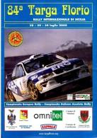 X 84 TARGA FLORIO 2000 RALLY INTERNAZIONALE DI SICILIA TABELLA TEMPI E PERCORSO  AUTOMOBILIA - Motori