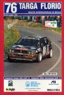 X 76 TARGA FLORIO 1992 RALLY INTERNAZIONALE DI SICILIA TABELLA TEMPI E DISTANZE 20 PAGINE   AUTOMOBILIA - Motori