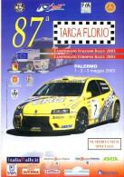 X 87 TARGA FLORIO 2003 RALLY INTERNAZIONALE DI SICILIA NUMERO UNICO SPECIALE 12 PAGINE   AUTOMOBILIA - Motori