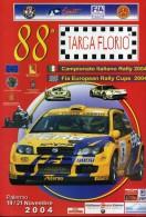 X 88 TARGA FLORIO 2004 RALLY INTERNAZIONALE DI SICILIA TABELLA TEMPI E DISTANZE PROGRAMMA   AUTOMOBILIA - Motori