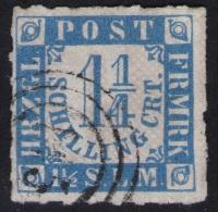 145 Schwartau Auf 1 1/4 Shillinge Blau - Schleswig Holstein Nr. 7 - Pracht - Tiefst Geprüft BPP - Schleswig-Holstein