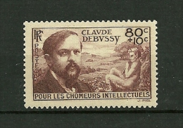 FRANCE   1940     N° 462    Au Profit Des Chomeurs Intellectuels Type 1939 (Claude Debussy)       NEUF - France