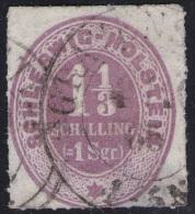 Gravenstein 4/10 65 Auf 1 1/3 Shillinge Violett - Schleswig Holstein Nr. 10 - Pracht - Schleswig-Holstein