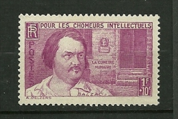 FRANCE  1940    N° 463    Au Profit Des Chomeurs Intellectuels Balzac      Neuf Avec Trace De Charnière - France