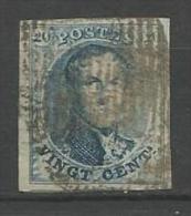 Belgique - Médaillon N°7 - Margé - Voisin - I Et M Partielles Dans Filigrane - Retouche Importante Feuillage - 1851-1857 Medallions (6/8)